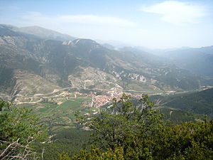 Bagà - View from the Tirabal Rock
