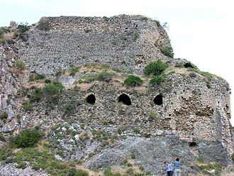 Bagras - Closer view of the ruins, west side