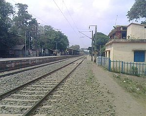 Lalgola and Gede branch lines - Bagula railway station on the Ranaghat-Gede line