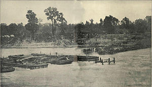 Bailey's Dam - Bailey's Dam under construction, May 1864