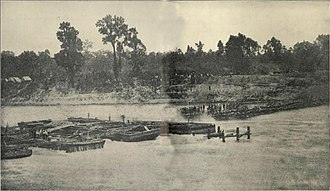 Bailey's Dam - Bailey's Dam under construction, May 1864