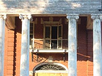 Stonewall Jackson Youth Development Center - Image: Balconycolumncannonh ouse