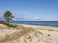 Baltic Sea coast near Miķeļtornis.jpg