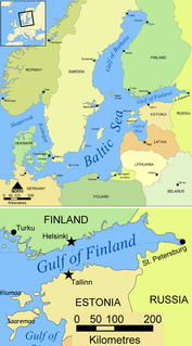 Gulf of Finland arm of the Baltic Sea