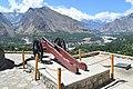 Baltit Fort Cannon Rakaposhi in Background.jpg