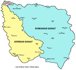 Rumana, serba kaj hungara Banatoj nun
