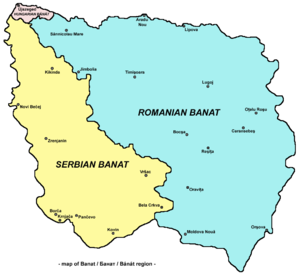 Banat, Bačka and Baranja - Division of Banat between Romania and Serbia at the Paris Peace Conference (1919-1920)