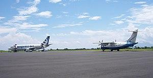 XpressAir - Xpress Air planes at Sultan Babullah Airport