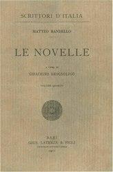 Matteo Bandello: Le novelle