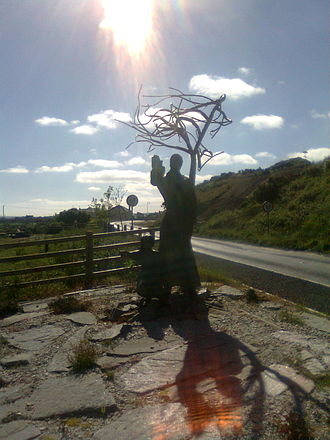 Bangor Erris - Sculpture at eastern outskirts of Bangor Village