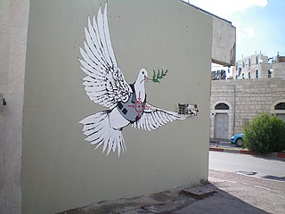 Banksy: Dove with bulletproof vest