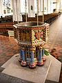 Baptismal font, St. Edmundsbury Cathedral.JPG