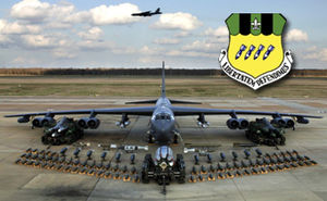 Barksdale Air Force Base - B-52H bomber at Barksdale AFB, Louisiana