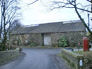 Listed buildings in Worsthorne-with-Hurstwood - Image: Barn, near Hurstwood Hall geograph.org.uk 1120392