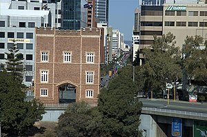Barracks Arch - The Barracks Arch and St Georges Terrace.
