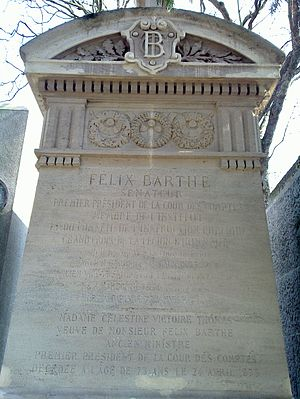 Félix Barthe - Barthe's grave in the Père-Lachaise cemetery in Paris