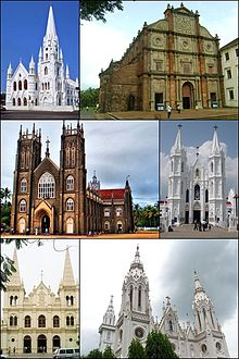 Basilicas in India montage.jpg