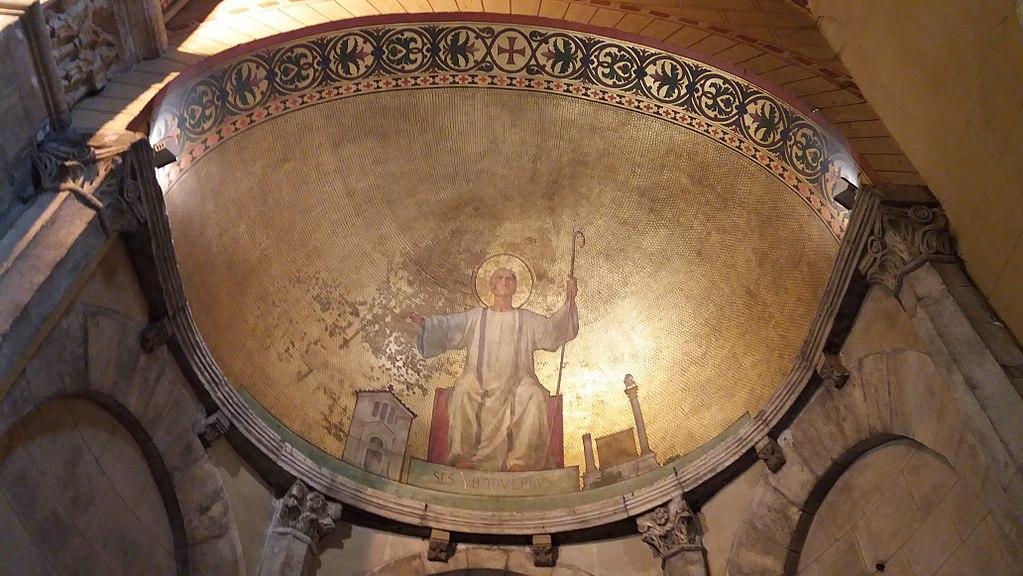 Absidiole de Saint Badulphe dans la basilique d'Ainay à Lyon - Photo de Romainbehar