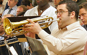 Bass trumpet - Duncan Wilson playing rotary bass trumpet in C with the BBC Symphony Orchestra