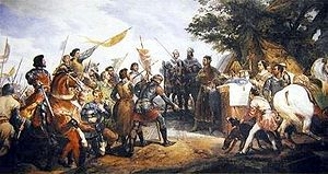 Philip II victorious at Bouvines.