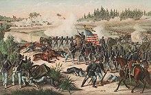 Représentation de la bataille d'Olustee.