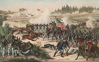 Florida - The Battle of Olustee during the American Civil War, 1864