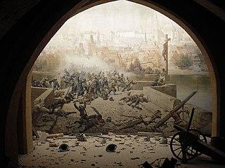 1648 battle in Prague, Bohemia