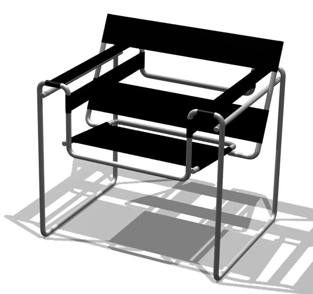 Sessel von Marcel Breuer im Bauhaus-Stil