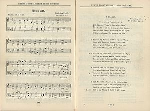 """Be Thou My Vision - First published setting of """"Be Thou My Vision"""" to the traditional Irish tune """"Slane"""" ca. 1919"""