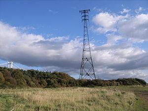 Aust Severn Powerline Crossing - Western pylon at Beachley