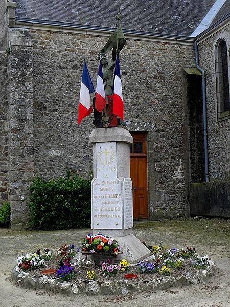 Monument aux morts de Beaulieu-sur-Oudon (53).