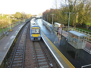 Beccles railway station - Image: Beccles station showing second platform with train