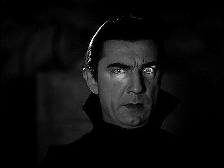 Count Dracula as portrayed by Bela Lugosi in 1931's Dracula. Bela lugosi dracula.jpg