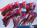 Belarusian and Russian Flags - Nyezalyezhnastsi Avenue - Minsk - Belarus (26938133533).jpg