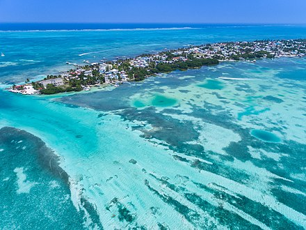 Aerial view of Caye Caulker in Belize. Belize Caye Caulker-207.jpg