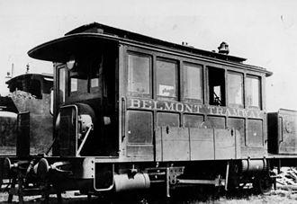 Shire of Belmont, Queensland - Belmont tram, 1912
