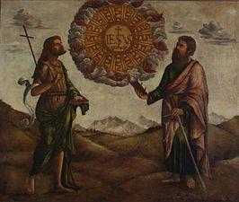 Benedetto Carpaccio - Adorazione del nome di Gesù tra San Giovanni Battista e San Paolo.jpg