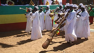 Gumuz people - Image: Benishangul Gumuz People in their tradishional dress and musical instrument