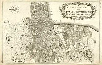 Benjamin Cole (instrument maker) - Map of City of Westminster 1755 by Benjamin Cole