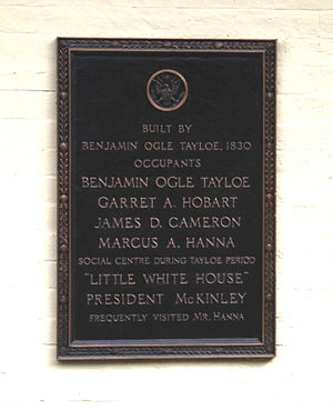 Benjamin Ogle Tayloe House - Plaque