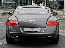 Bentley Continental GT (II) – Heckansicht (4), 30. August 2011, Düsseldorf.jpg