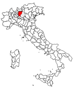 Location of Province of Bergamo