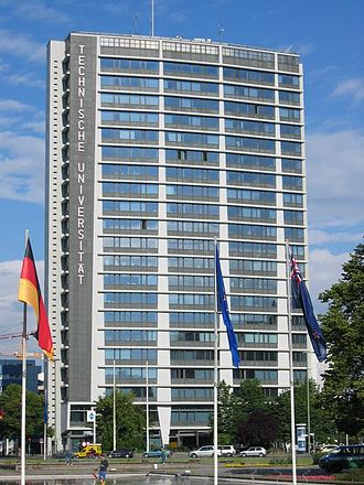 Technical University of Berlin - Telefunken-Highrise, the tallest building on campus.