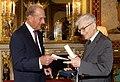 Bernard D'Espagnat receives prize from HRH The Duke of Edinburgh, Buckingham Palace (4440879448).jpg