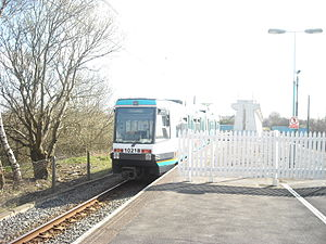 Besses o' th' Barn tram stop - Image: Besses o'th' Barn Metrolink station