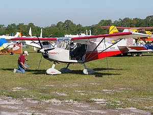 Best Off Skyranger - Best Off Aviation Skyranger being tied down at Sun 'n Fun 2006