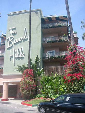 The Beverly Hills Hotel - The southeast corner of The Beverly Hills Hotel