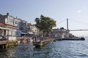 Beylerbeyi - Beylerbeyi Harbor, Bosphorus Bridge at the background