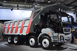 BharatBenz - BharatBenz Dump truck at exhibition IAA 2014 in Hanover, Germany