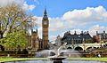 Big Ben and Westminster Bridge, Lambeth Walk (32984578633).jpg